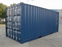 20' Blue RAL 5013 shipping containers