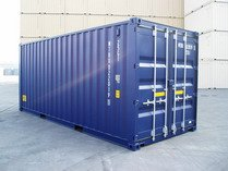 20' DD BLUE RAL 5013 shipping containers