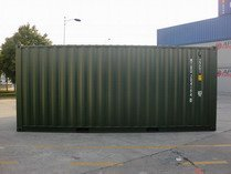 20' Green RAL 6007 shipping containers