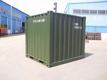 8' RAL 6007 shipping containers